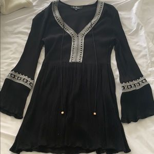Lulus black long sleeve dress size small